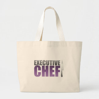 Purple Executive Chef Tote Bag