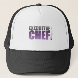 Purple Executive Chef Trucker Hat
