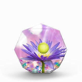 Purple exotic flower loves tennis sport award