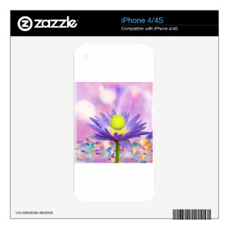 Purple exotic flower loves tennis sport skins for the iPhone 4S