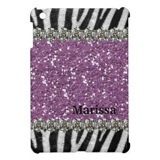 Purple Exotic Zebra Stripes Personalized iPad Mini Case