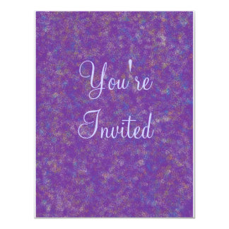 purple explosion, You're, Invited Card