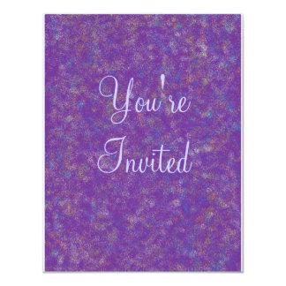 purple explosion, You're, Invited 4.25x5.5 Paper Invitation Card