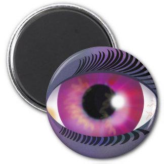 Purple Eye 2 Inch Round Magnet
