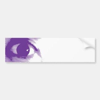 Purple eye bumper sticker