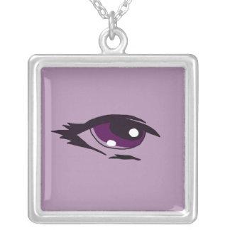 Purple eye design matching jewelry set