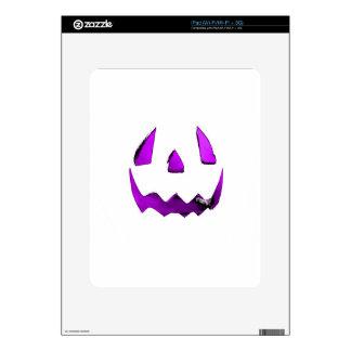 Purple Eye Jack O Lantern Face iPad Skins