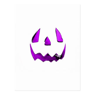 Purple Eye Jack O'Lantern Face Postcard