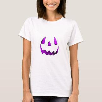 Purple Eye Jack O'Lantern Face T-Shirt