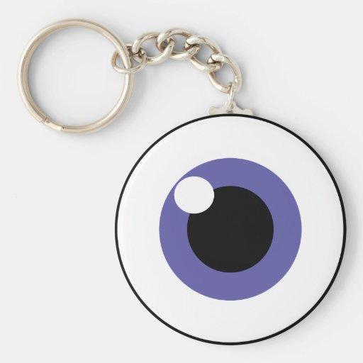 Purple Eye Keychain