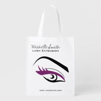 Purple Eye long eyelashes Lash extension  icon Grocery Bag