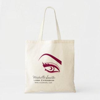 Purple Eye long eyelashes Lash extension  icon Tote Bag