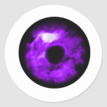 Purple Eye looking graphic, cloudy inside Stickers