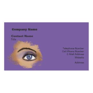 Purple Eye Makeup Business Cards