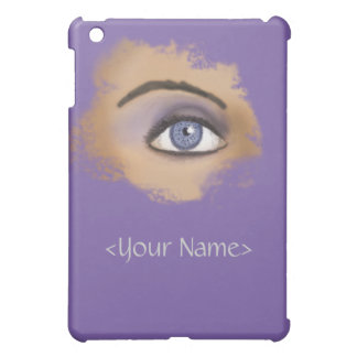 Purple Eye Makeup iPad Mini Cover
