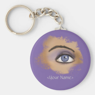 Purple Eye Makeup Keychain