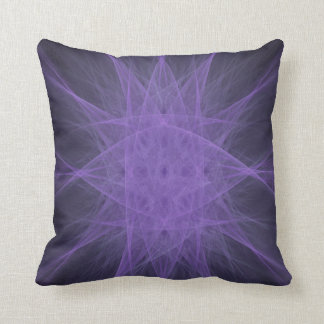 Purple Eyed Monster Fractal Design Throw Pillow