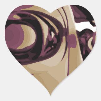 Purple Eyed Robot Heart Sticker