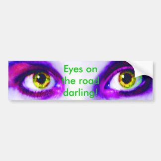 Purple Eyes on the Road Bumper Sticker