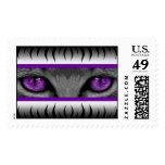 Purple Eyes Postage Stamps
