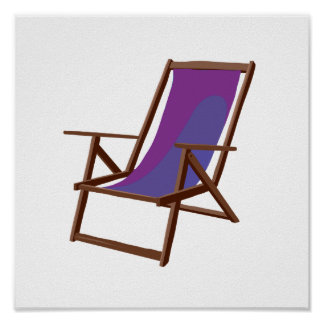 purple fabric beach chair.png poster