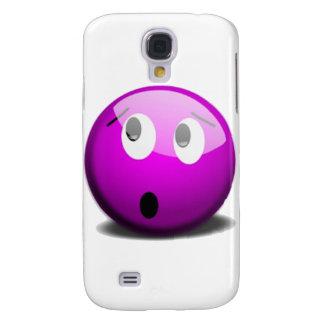 Purple faced emoticon galaxy s4 cases