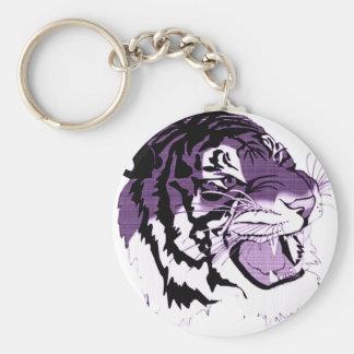 Purple Faced Tiger Keychain