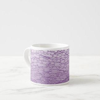 Purple Fade Mini Tile Design Espresso Cup