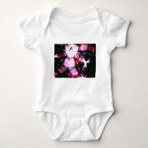 Purple Faded Pattern Baby Bodysuit