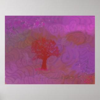 Purple Fairies Poster
