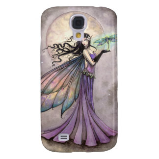 Purple Fairy and Dragonfly Fantasy Art Galaxy S4 Cover