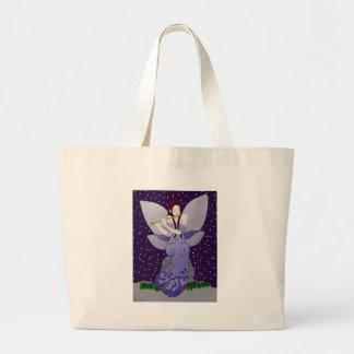 Purple fairy canvas bags