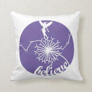 Purple fairy dandelion cushion pillow