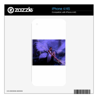 Purple Fairy Decal For iPhone 4