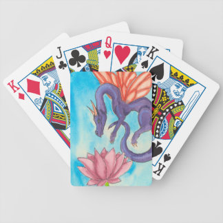 Purple Fairy Dragon Bicycle Playing Cards
