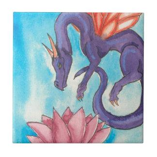 Purple Fairy Dragon Ceramic Tile