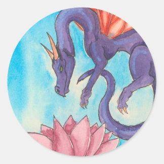Purple Fairy Dragon Classic Round Sticker