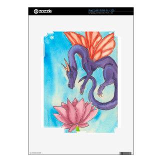 Purple Fairy Dragon Decals For iPad 2