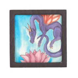 Purple Fairy Dragon Jewelry Box