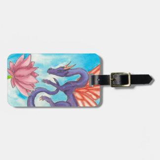Purple Fairy Dragon Luggage Tag