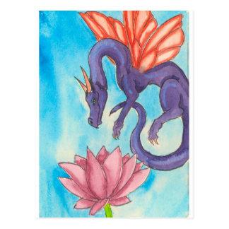 Purple Fairy Dragon Postcard