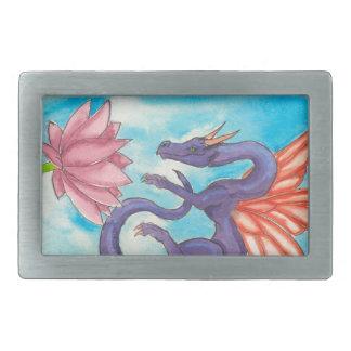 Purple Fairy Dragon Rectangular Belt Buckle