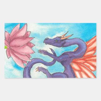Purple Fairy Dragon Rectangular Sticker