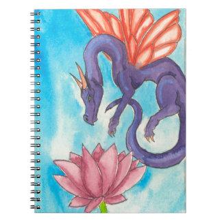 Purple Fairy Dragon Spiral Notebook