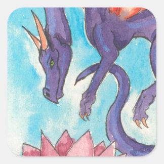 Purple Fairy Dragon Square Sticker