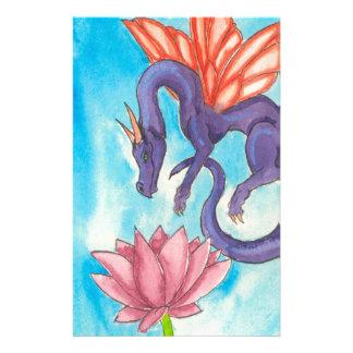 Purple Fairy Dragon Stationery