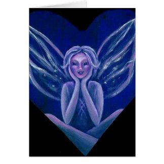 Purple Fairy Fantasy Heart Card