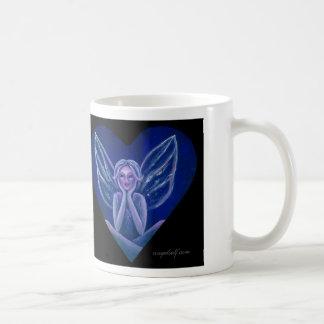 Purple Fairy Fantasy Heart Coffee Mug
