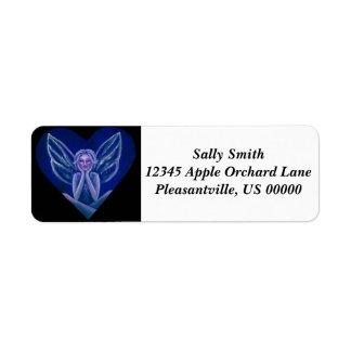 Purple Fairy Fantasy Heart Label