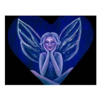 Purple Fairy Fantasy Heart Postcard